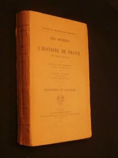 Les sources de l'histoire de France, XVIIe siècle, mémoires et lettres, tome 2