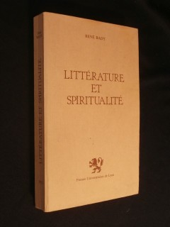 Littérature et spiritualité