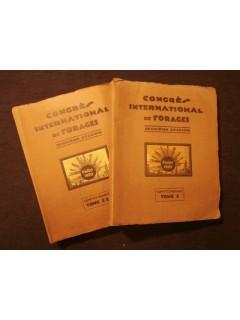 Congrès international des forages, 2e cession, 1929, 2 tomes