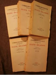 Correspondance générale de Eugène Delacroix, 5 tomes