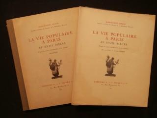 La vie populaire à Paris au XVIIIe siècle