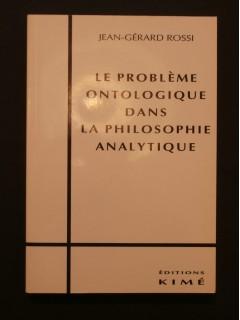 Le problème ontologique dans la philosophie analytique