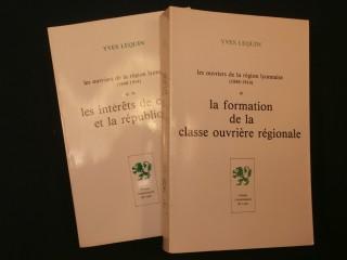 Les ouvriers de la région lyonnaise (1848-1914), 2 tomes