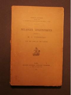 Mélanges linguistiques offerts à J. Vendryes