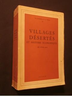 Villages désertés et histoire économiques, XIe - XVIIIe siècle