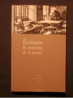Ecriture et exercice de la pensée