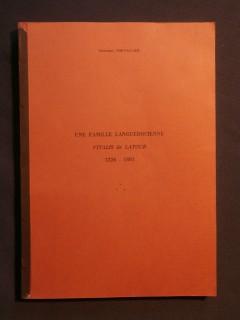 Une famille languedocienne Vitalis de Latour, 1226-1881