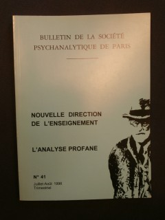 Bulletin de la société psychanalytique de Paris, n°41