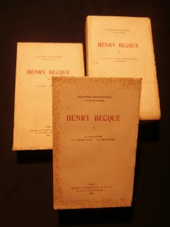 Henry Becque, 3 tomes