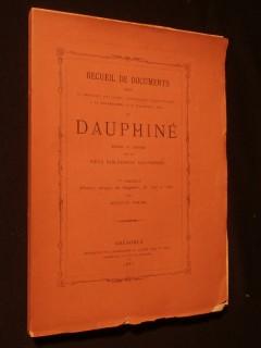 Recueil de documents relatifs à l'histoire politique, littéraire et scientifique du Dauphiné