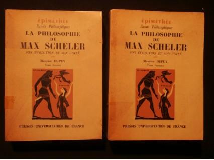 La philosophie de Max Scheler, 2 tomes