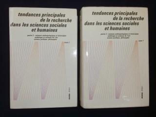 Tendances principales de la recherche dans les sciences sociales et humaines, 2 tomes