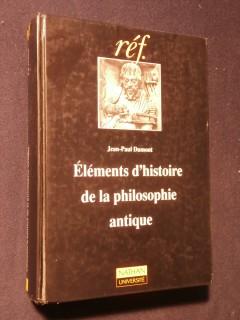 Eléments d'histoire de la philosophie antique